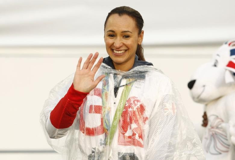 Britain Olympics - Team GB Homecoming Parade - Manchester - 17/10/16Jessica Ennis-Hill of Britain of Britain on stageAction Images via Reuters / Craig BroughLivepic