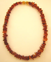 stringed amber necklace