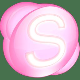 Skype pink Icon   SoftDimension Iconset   Benjigarner