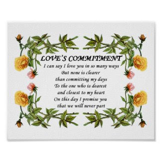 Love Commitment_Wedding Anniversary Love Poem Gift print