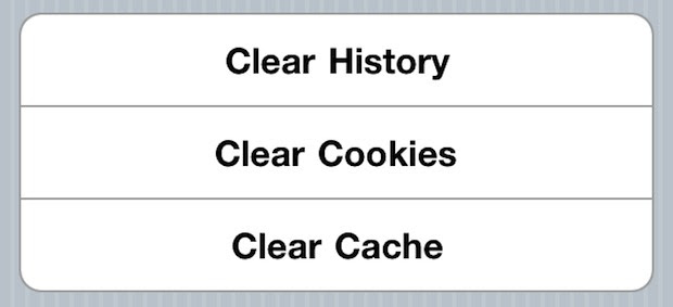 Clear History, Cache, and Cookies from Safari Browser on ...