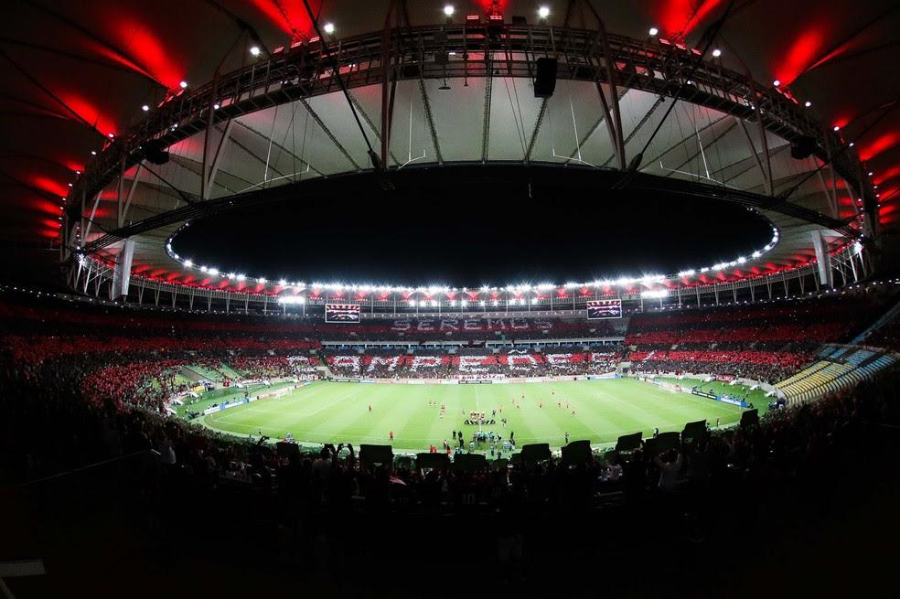 Flamengo x San Lorenzo acabou sendo no Maracanã (Foto: Divulgação)