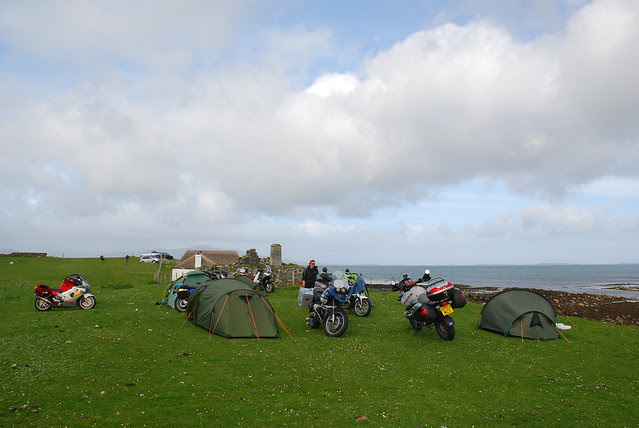 Camping at the Black House Hostel, Berneray.