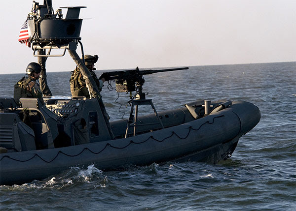 NSW RHIB - M2 Machine Gun