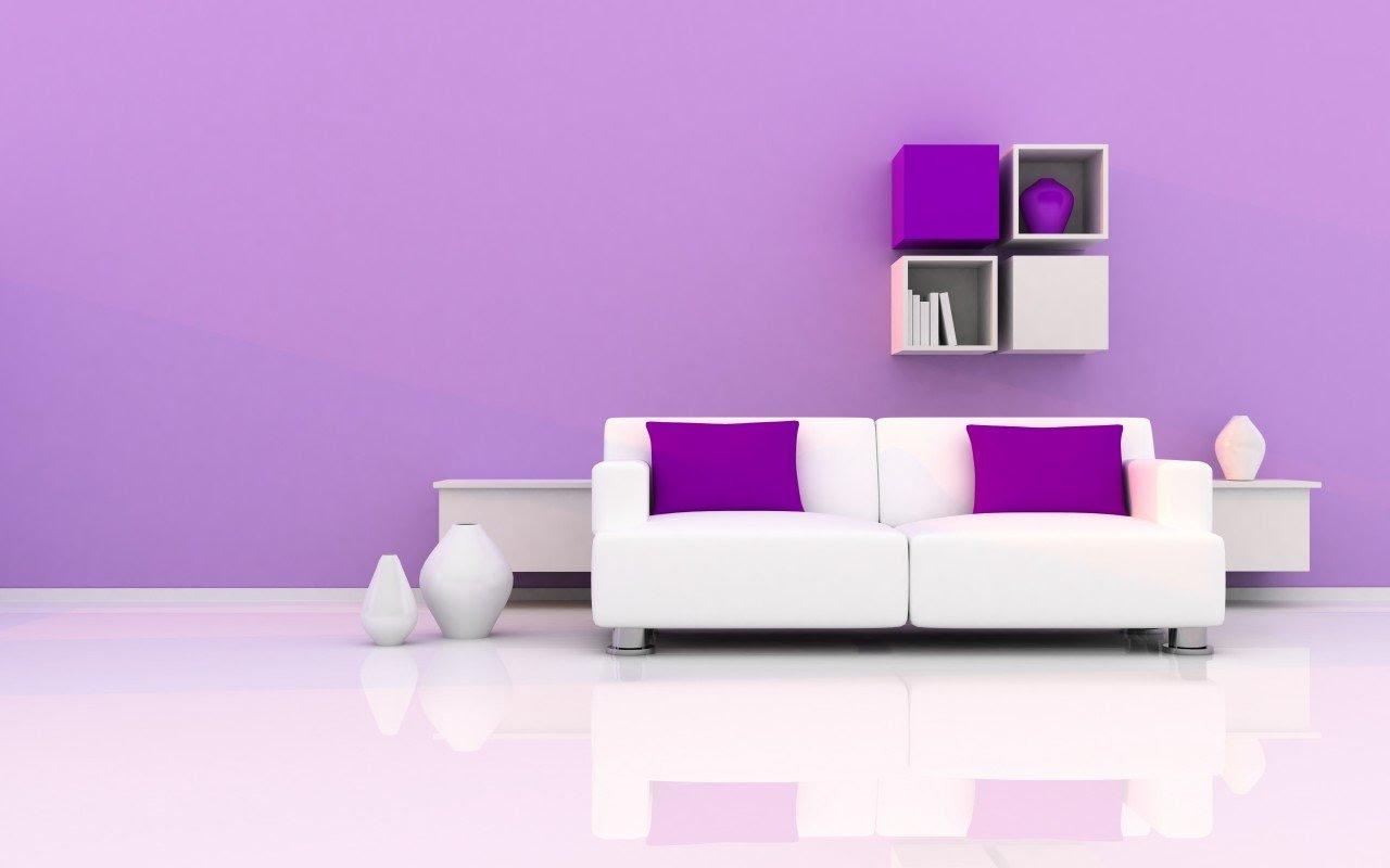 Arrière-plan minimaliste intérieur violet et blanc.