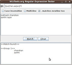 WizTools.org Regular Expression Tester
