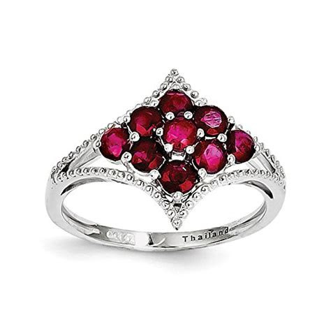 ruby rings    celebrate  july birthday