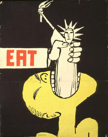 http://missmediablog.fr/wp-content/uploads/2013/01/Eat-Poster-Tomi-Ungerer-at-Art-Against-Empire-LACE.jpg