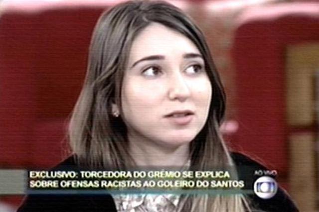 """Em programa de TV, Patrícia Moreira diz que quer """"abraçar Aranha"""" Reprodução, TV Globo/"""