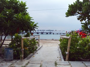 halaman depan resort..