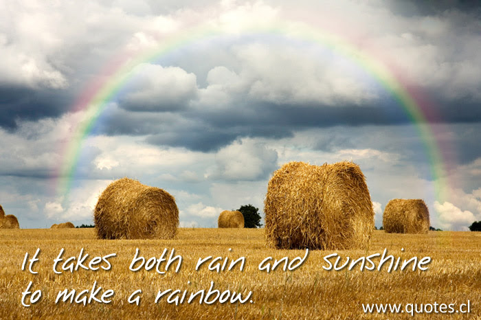 It Takes Both Rain And Sunshine To Make A Rainbow Quotes