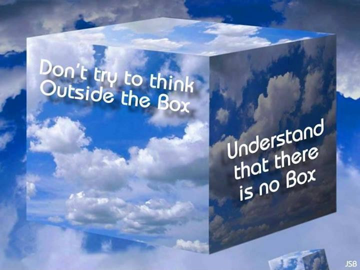 Dont Try To Think Outside The Box Understand That There Is No