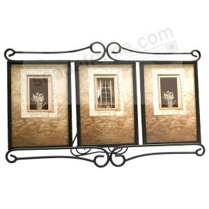 Alton Corner Scroll Triple 8x10 Frame By Fetco Picture Frames