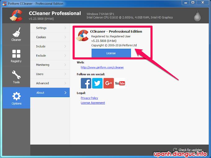 Download CCleaner v5.23.5808 Full Key miễn phí mới nhất