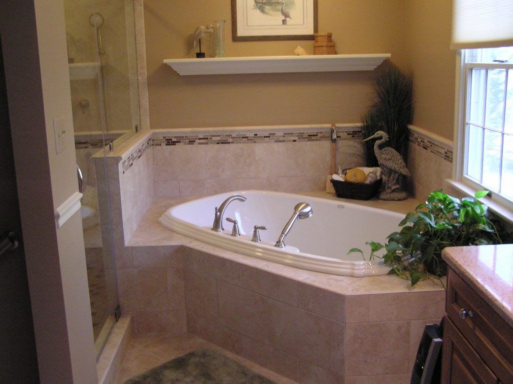 Home Architec Ideas Bathroom Design Corner Tub