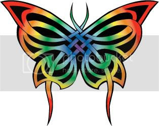 Butterfly Celtic Tribal Tattoo
