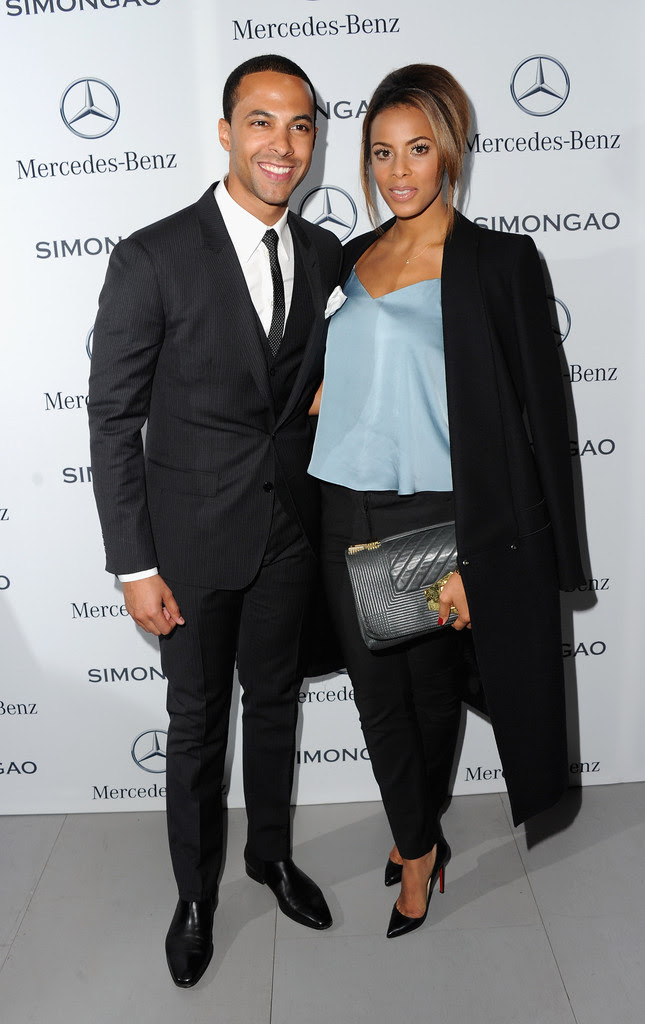 Marvin & Rochelle Humes at Simon Gao fashion show + music video premiere...