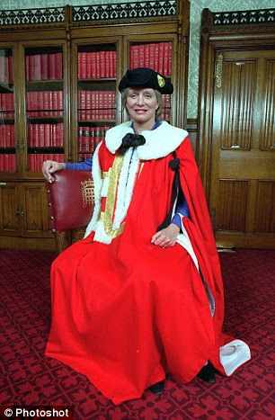Expenses: Baroness Wilcox bills the taxpayer up to £5,700 a month for her walk to work despite living in a £4million home 200 yards from the House of Lords