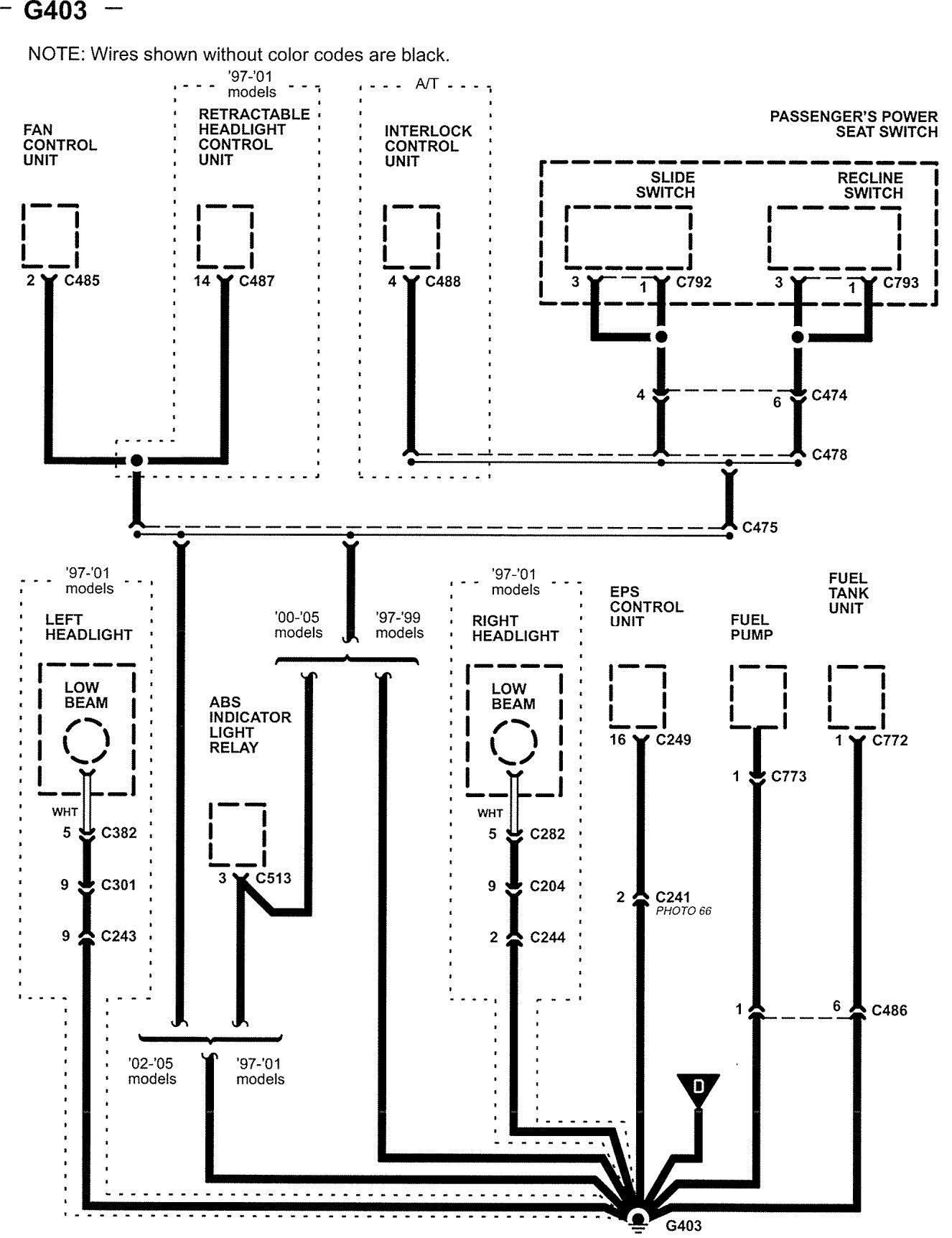 2005 Acura Mdx Fuse Box Diagram