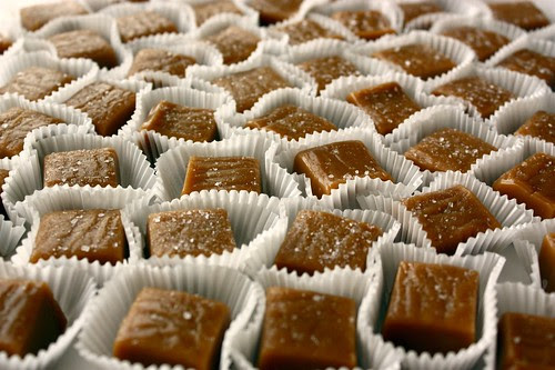 A sea of salted caramels