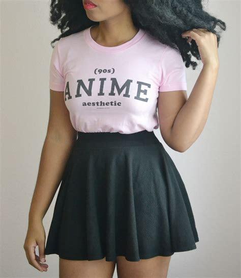 anime aesthetic athletic inspired short sleeve women