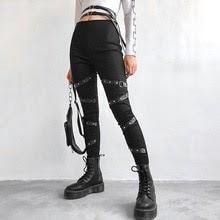Buy Deeptown Gothic Pants High Waist Pants Women Winter Streetwear Full Length Trousers Hip Pop Women Clothes 2020 Fashion Harajuku