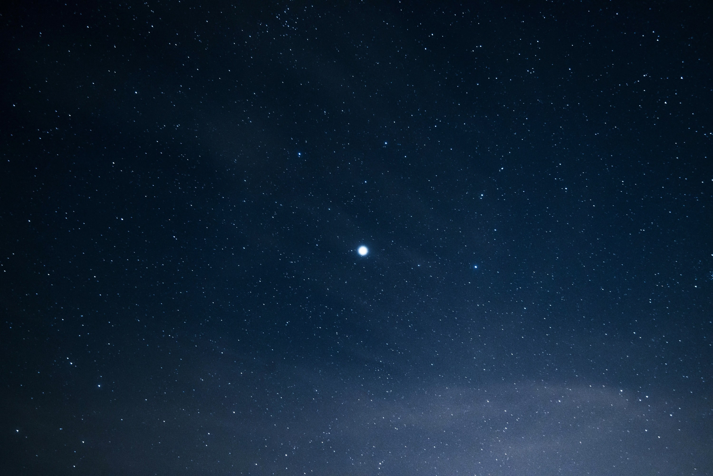In The Night Sky Full Of Stars Stands A Bright Lone Starbright