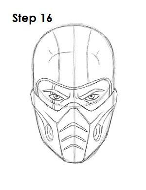 Mortal Kombat Scorpion Drawings Easy Drawing Art Ideas