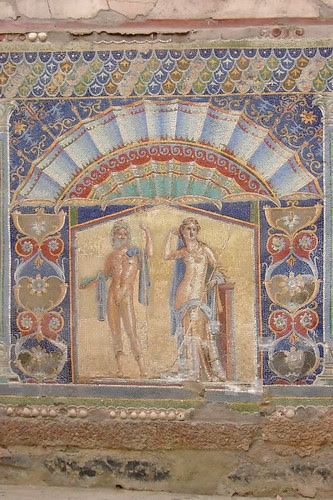 Roman Mosaic found in the ruins of Herculaneum 1st century CE (1)