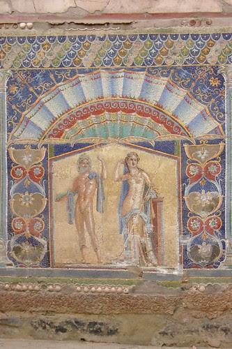Roman Mosaic found in the ruins of Herculaneum 1st century CE (1)