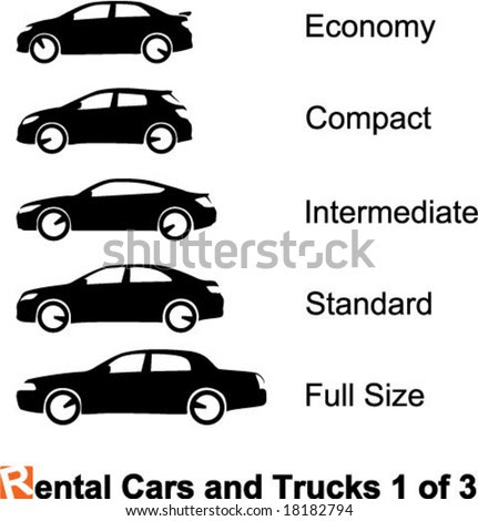 rental cars. stock vector : Rental Cars and