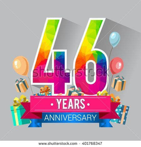 46 Years Anniversary celebration logo, 46th Anniversary