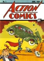 Superman coloring pages for free. This is Action Comics #1, Superman's first appearance.