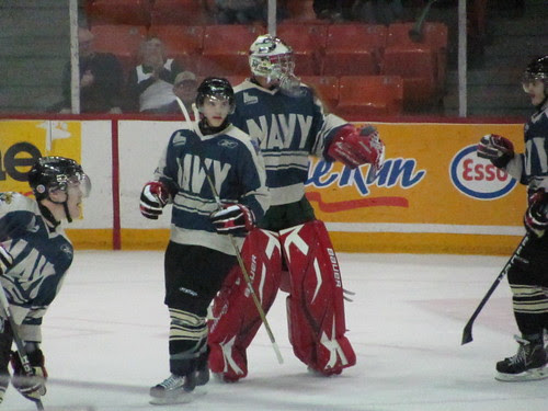 Chicoutimi Sagueneens at Halifax Mooseheads (DND appreciation night, Nov 5 2010)