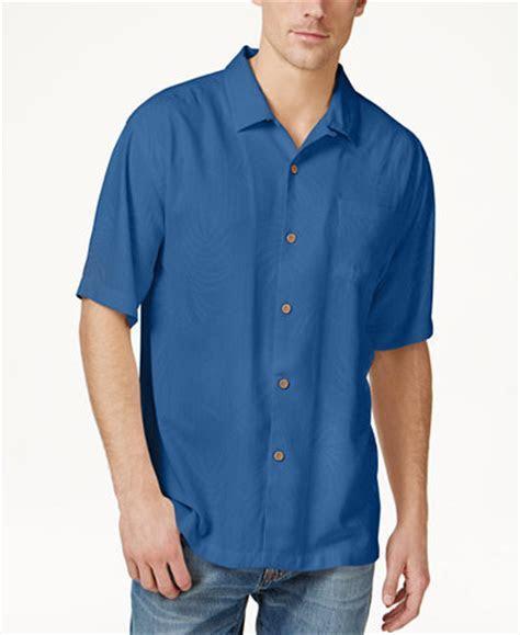 Tommy Bahama Men's Tiki Palms Silk Short Sleeve Shirt, A