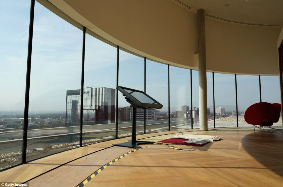 Amazing views: The observation area at the top of the new Library of Birmingham, at Centenary Square