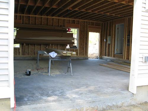 Garage floor.