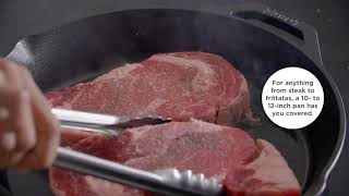 A video supported by choosing the leading established skillet