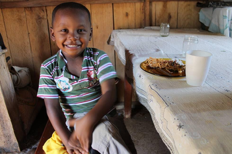 Niño quilombola (descendiente de esclavos liberados) en Sao Paulo.