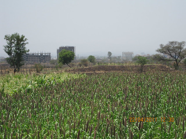 View of Pride Aashiyana & Dhanori PMC Water Tank for Sharad Pawar School - near Park Springs - 2 BHK - 3 BHK Flats - Lohegaon Gram Panchayat - Dhanori - Pune 411 032 - By Pride Purple Group & Rainbow Housing