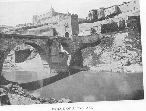 Puente de Alcántara (Toledo) a finales del siglo XIX