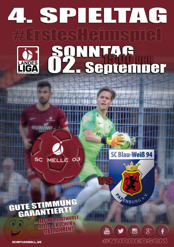 Spieltag 4 Fußball Landesliga Weser-Ems 18/19 SC MELLE 03 gegen SC BW Papenburg