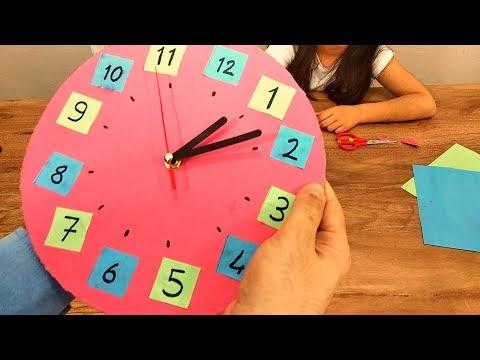 Kartondan saat nasıl yapılır? Hemde gerçek, çalışan bir saat.