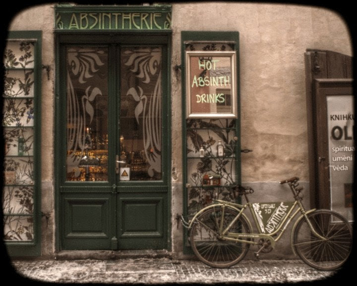 Absintherie - 8x10 vintage looking Fine Art photo print of an old absinthe bar in Prague.