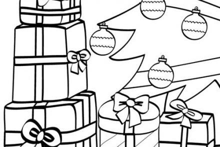 Coloriage Des Cadeaux De Noel Coloriage Deballage Des Cadeaux