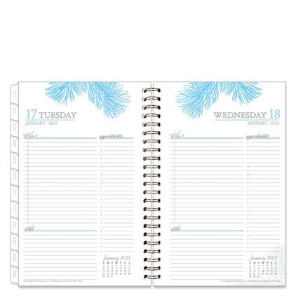 Botanica Wire-bound One-Page-Per-Day Planner   Organizing ...
