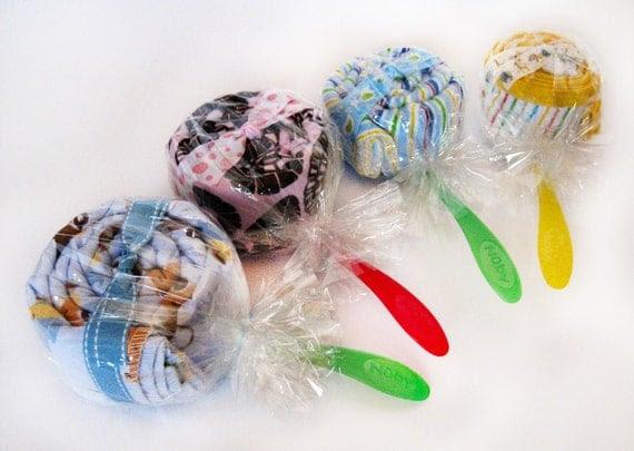Baby shower gift - Lollipop gift set - 2 pc set