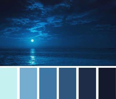 sfumature del blu