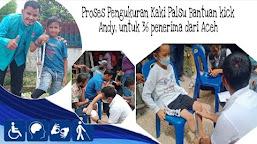 Proses Pengukuran Kaki Palsu Bantuan dari kick Andy Foundation