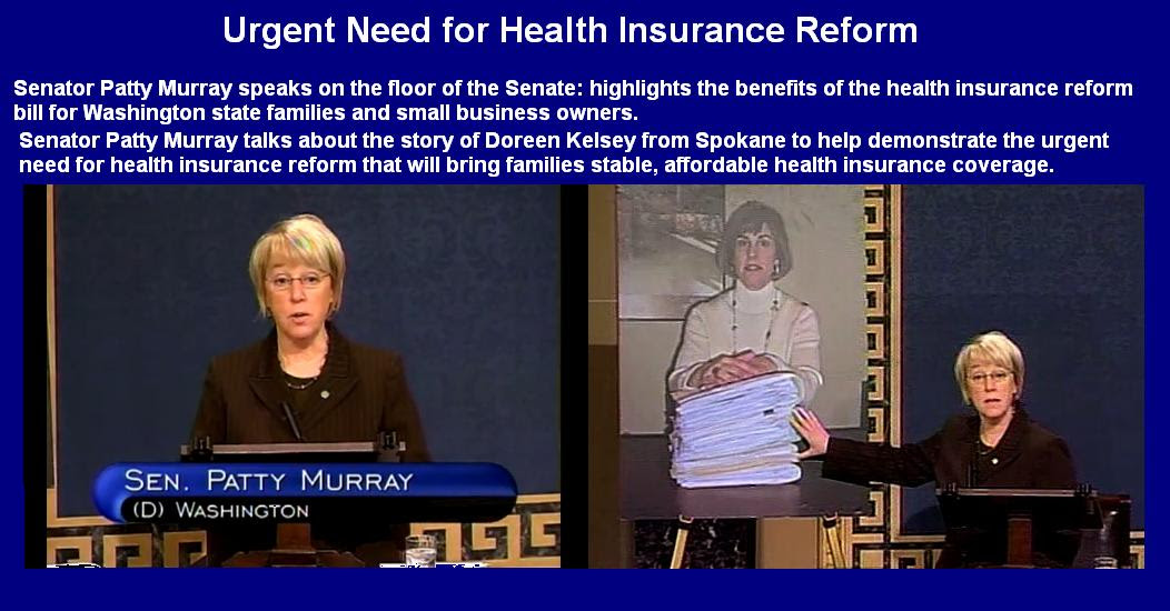 Senator Patty Murray expresses about The Health care ...